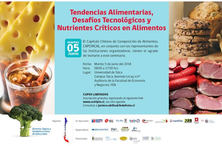 """Seminario CAPCHICAL """"Tendencias Alimentarias, Desafíos Tecnológicos y Nutrientes Críticos en Alimentos"""""""