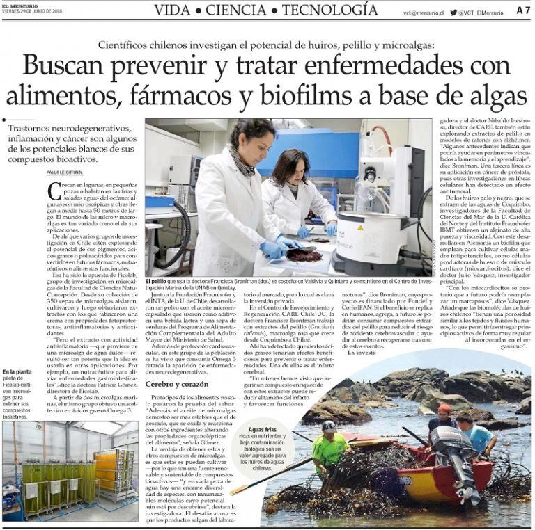Investigadoras de IFAN presentan importante noticia en el diario El Mercurio