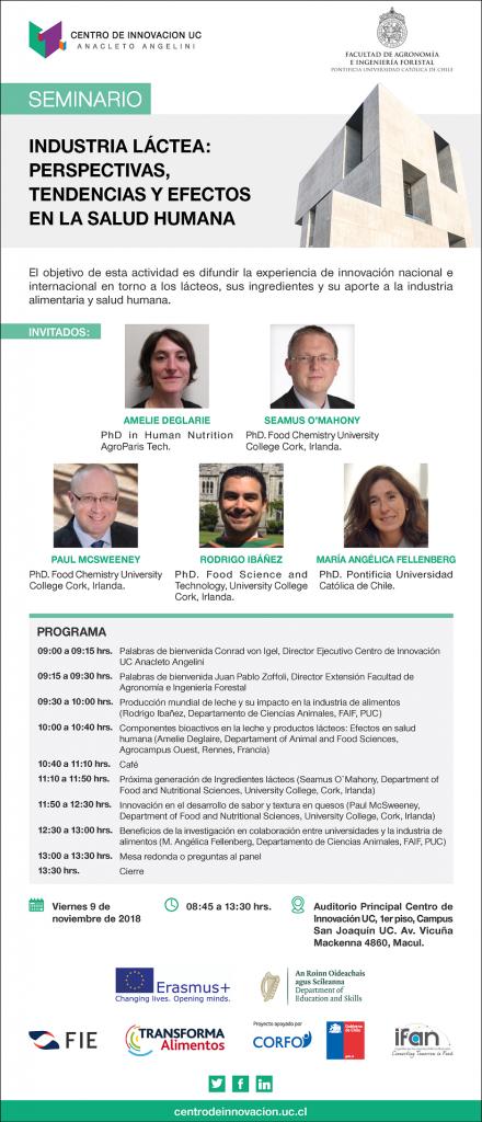 Seminario Internacional revisará las perspectivas, tendencias y efectos en la salud de la industria láctea