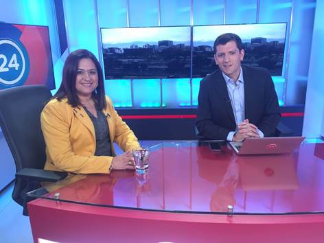 Directora del programa, presenta a IFAN en importante noticiero nacional